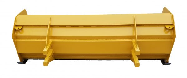 10′ XP36 Snow Pusher (back view)- Caterpillar Yellow
