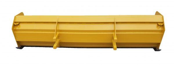 14′ XP36 Snow Pusher (back view)- Caterpillar Yellow
