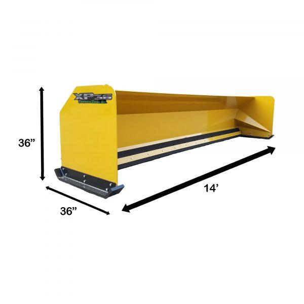 14' XP36 Snow Pusher Measurements