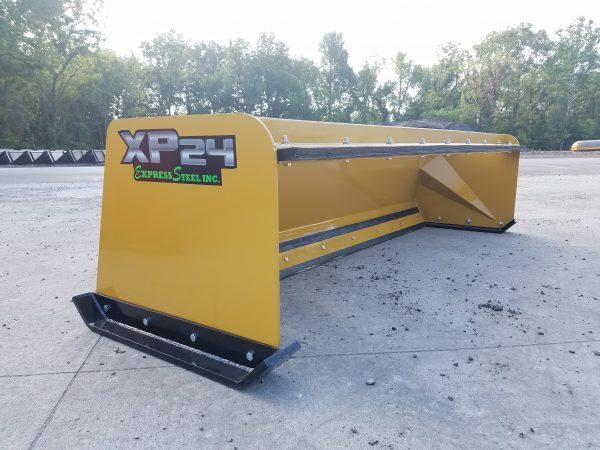 8′ XP24 Pullback Snow Pusher - Yellow