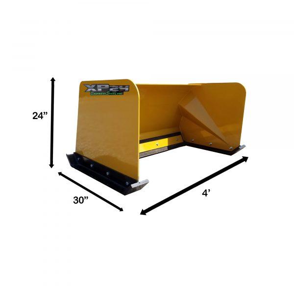 4' XP24 Snow Pusher Measurements