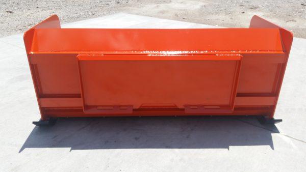 6' XP30 Snow Pusher (back view) - Kubota Orange