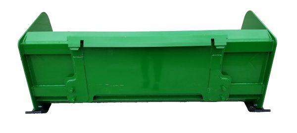 6′ XP24 Snow Pusher (back view) - JD Green