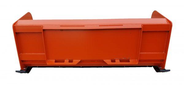 6′ XP24 Snow Pusher (back view) - Kubota Orange
