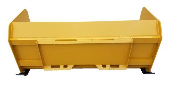 6′ XP30 Snow Pusher (back view) - Caterpillar Yellow