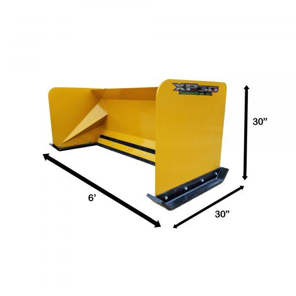 6' XP30 Snow Pusher Measurements