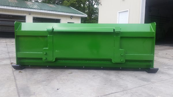 8′ XP30 Snow Pusher (back view) - JD Green