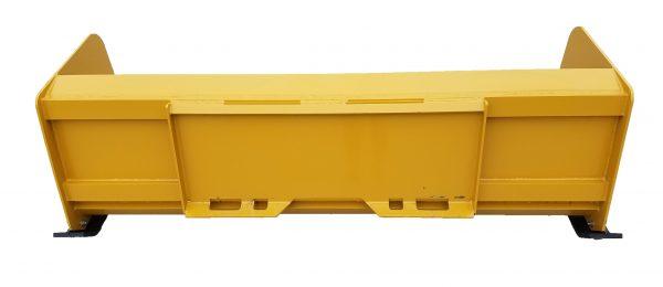 7′ XP24 Snow Pusher (back view) - Caterpillar Yellow