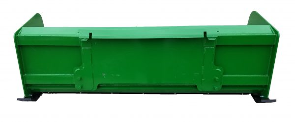 7′ XP24 Snow Pusher (back view) - JD Green