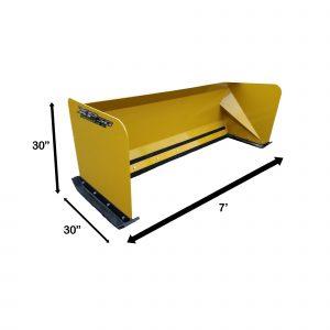 7' XP30 Snow Pusher Measurements