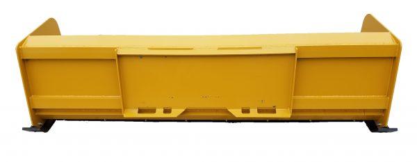 8′ XP24 Snow Pusher (back view)- Caterpillar Yellow