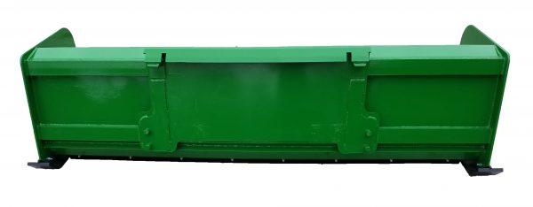 8′ XP24 Snow Pusher (back view) - JD Green