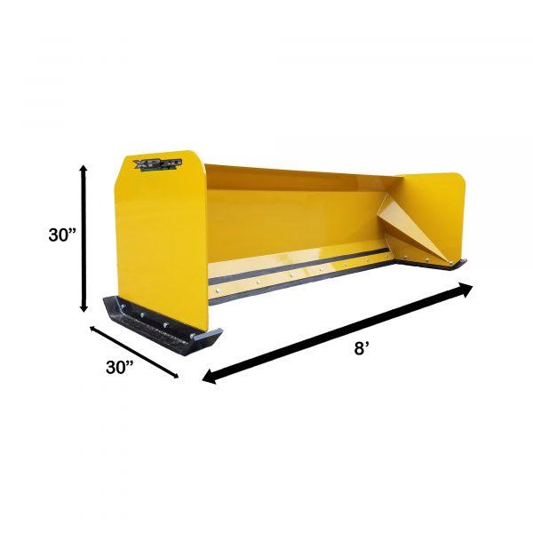 8' XP30 Snow Pusher Measurements