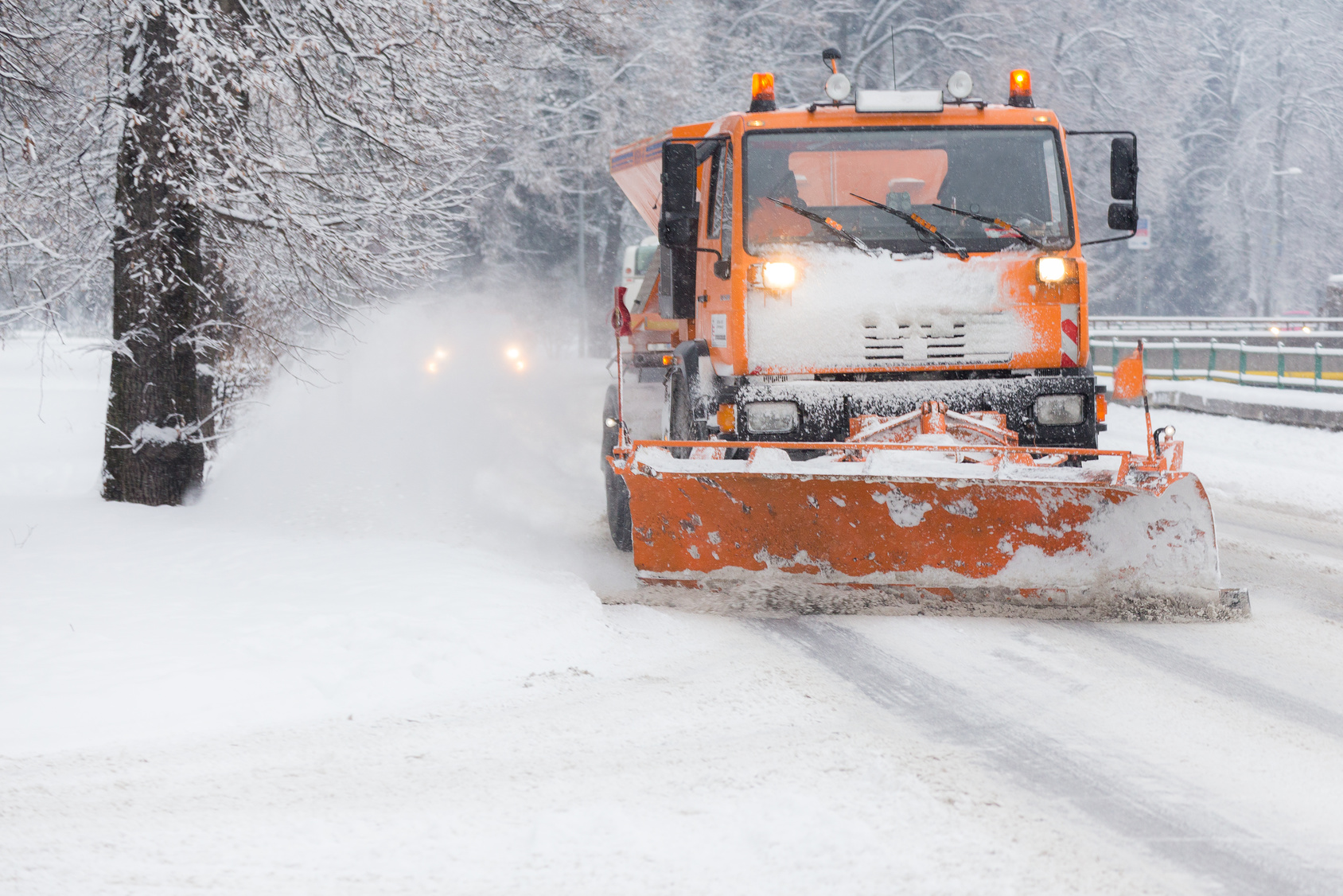 snowplow and snow calamity