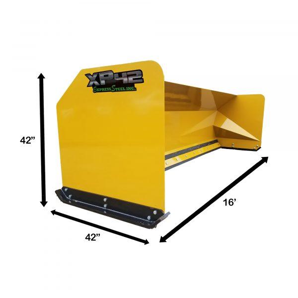 16' XP42 HD Loader Snow Pusher Measurements