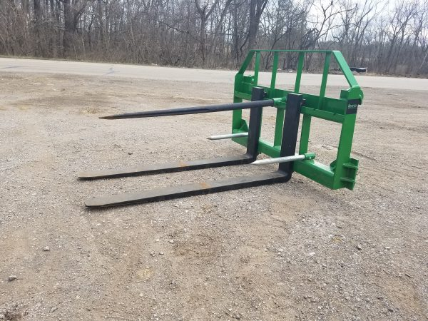 John Deere Quick Attach Bale Spear and Pallet Fork Combo