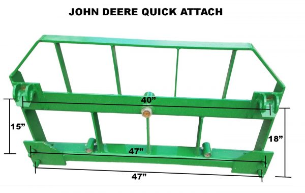 John Deere Combo- Hay Spear and Pallet Forks Dimensions
