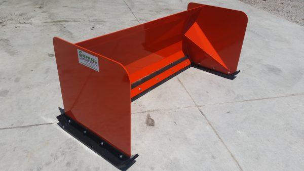 5' XP30 Snow Pusher - Kubota Orange