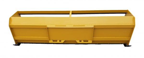 10′ XP30 Pullback Snow Pusher (back view) - Caterpillar Yellow
