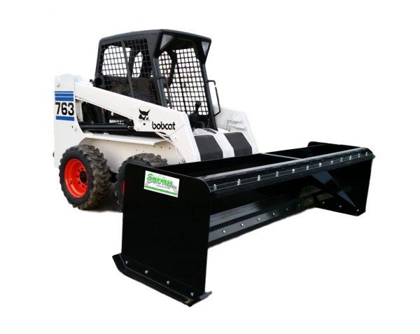 10' XP30 Pullback Snow Pusher black on Bobcat