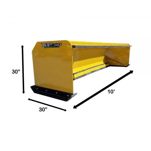 10' XP30 Pullback Snow Pusher Measurements