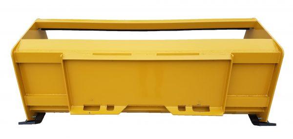 6' XP24 Pullback Snow Pusher (back view)- Caterpillar Yellow