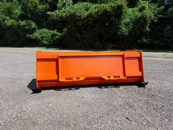 6′ XP24 Pullback Snow Pusher (back)- Kubota Orange