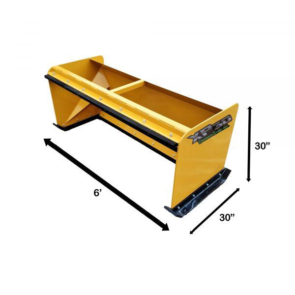 6′ XP30 Pullback Snow Pusher Measurements