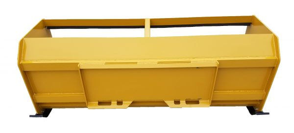 7′ XP30 Pullback Snow Pusher (back view)- Caterpillar Yellow
