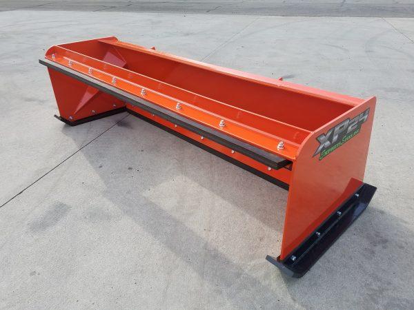 7′ XP24 Pullback Snow Pusher - Kubota Orange