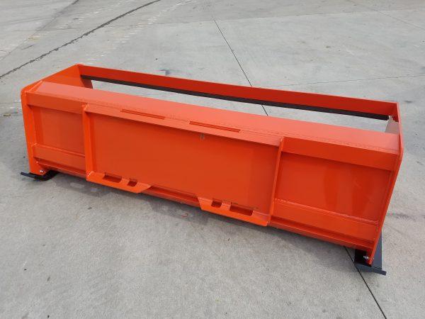 7′ XP24 Pullback Snow Pusher (back)- Kubota Orange