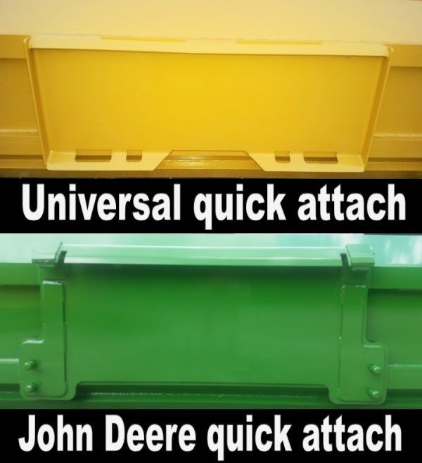 Universal Quick Attach vs John Deere Quick Attach