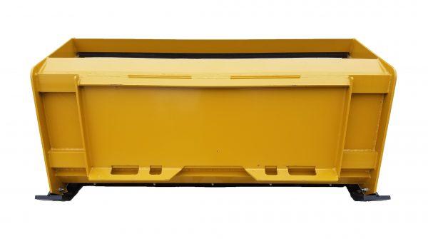 5' XP24 Pullback Snow Pusher (back view)- Caterpillar Yellow