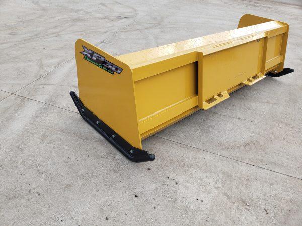 8′ XP30 Turf Pusher (back)- Caterpillar Yellow