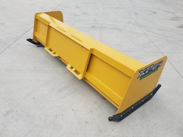 6′ XP24 Turf Pusher (back)- Caterpillar Yellow