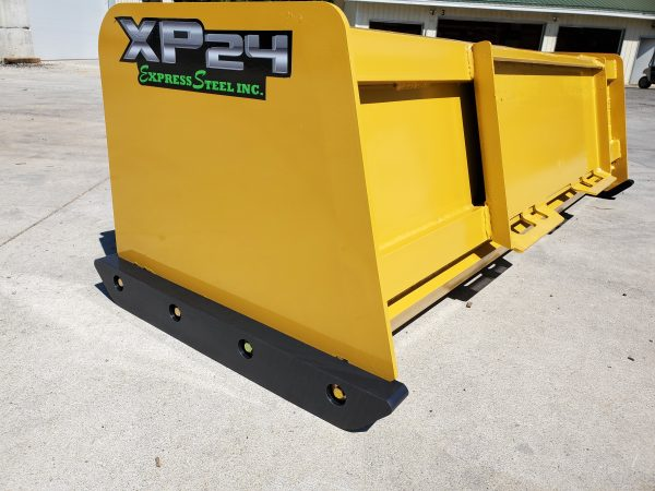 Poly Replacement Skid Steer Snow Pusher Shoes on 7' XP24 Snow Pusher